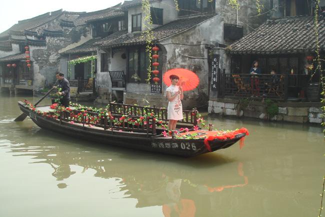 央视七套《乡村大世界》到西塘拍摄宣传片--嘉